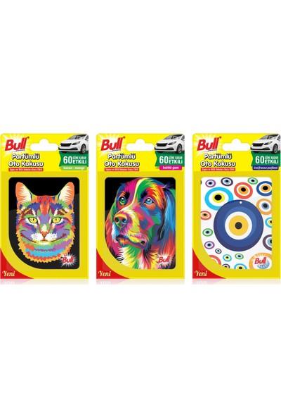 Bullpowers Parfümlü Oto Kokusu 3'lü Ekonomik Paket (Kedi&köpek&nazar)