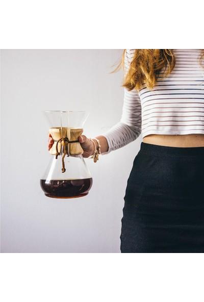 Epinox Borosilikat Cam (*chemex) Kahve Demleme Sürahi-Karaf 600 ml - 4 Cup Coffee Pot