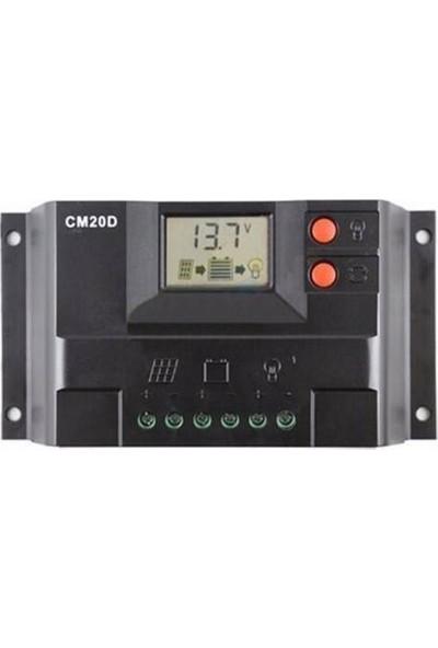 Solar 20A Şarj Kontrol Cihazı 12/24V LCD Ekran