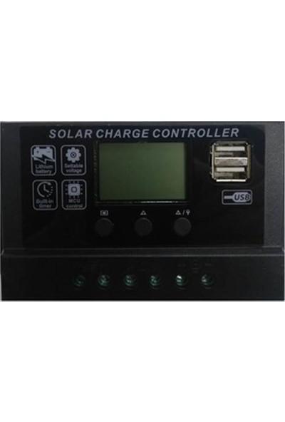Solar Şarj Regülatörü 10 Amper LCD Ekran