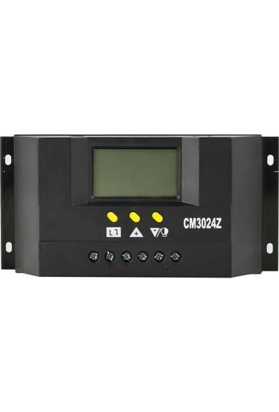 Solar 30A Şarj Cihazı 12/24V LCD Ekran