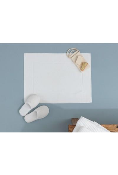 Madame Coco Stripe Armürlü Ayak Havlusu - Beyaz 50 x 70 cm