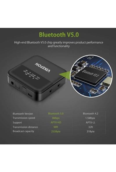 Schulzz Bluetooth 5.0 Stereo Optik Stereo Ses Müzik Alıcısı RX TX Verici