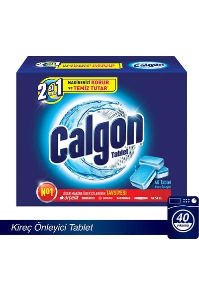 Calgon Çamaşır Makinesi Kireç Önleyici Tablet 40'lı