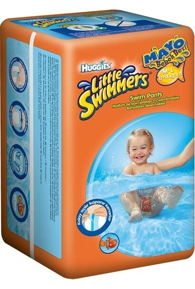 Huggies Little Swimmers Medium-Large Mayo Bebek Bezi 11'li
