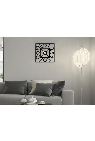 Metalium Concept Kare Dekoratif Duvar Saati