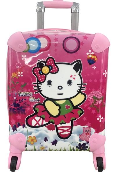 Gnc Design Kitty Cat Kız Çocuk Valizi