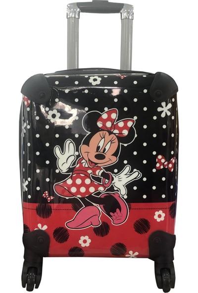 Gnc Design Siyah- Kırmızı Kız Çocuk Valizi