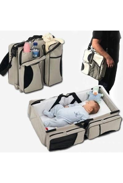 Aşiyan Fonksiyonlu 3 In 1 Taşınabilir Katlanabilir Bebek Çantası