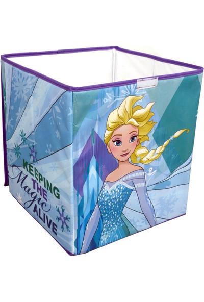 Gokidy Disney Frozen Elsa Çok Amaçlı Katlanabilen Oyuncak Saklama Kutusu 40 Lt