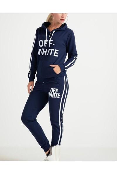 Msk Moda Off White Yazılı Eşofman Takımı