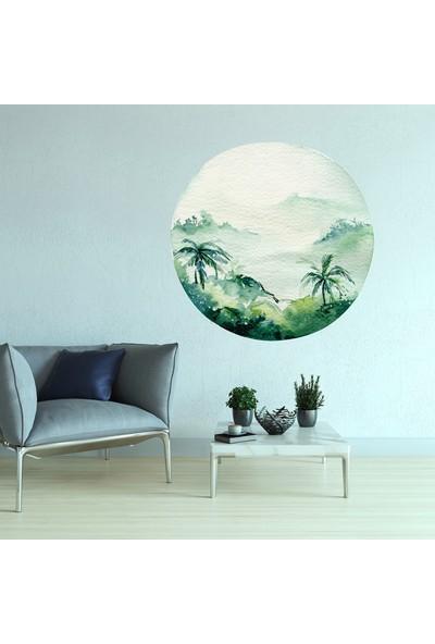 Sim Tasarım Yeşil Doğa Duvar Stickerı