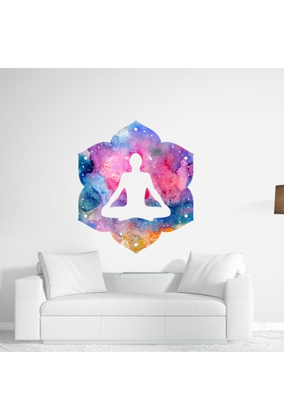Sim Tasarım Meditasyon Yoga Duvar Sticker