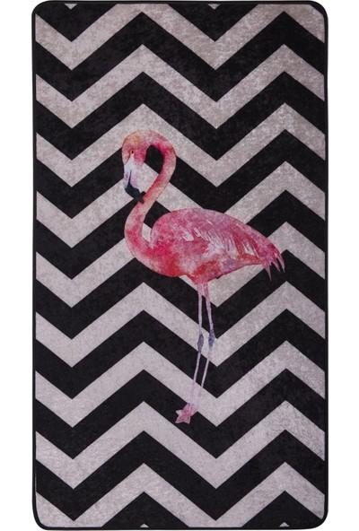 Caricia - Flamingo Genç Kız Çocuk Odası Halısı Dijital Baskı Lateks Dolgu Taban 80 x 150 cm CH-100613