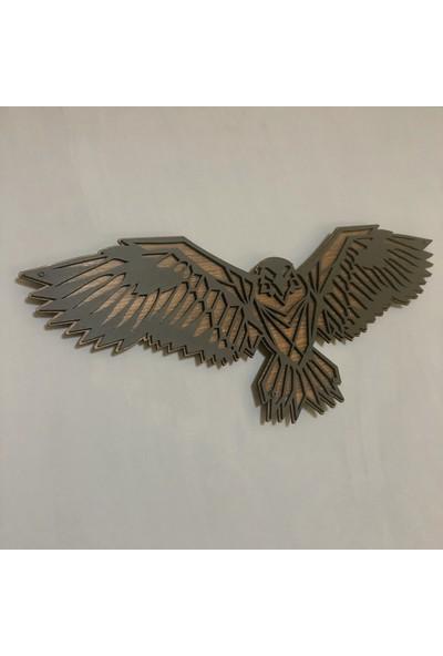 KAYRA Dekoratif Ahşap Kartal Tablosu 68 x 30 cm