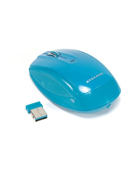 Tucano WI-COL-B Colore Wireless Mouse Mavi
