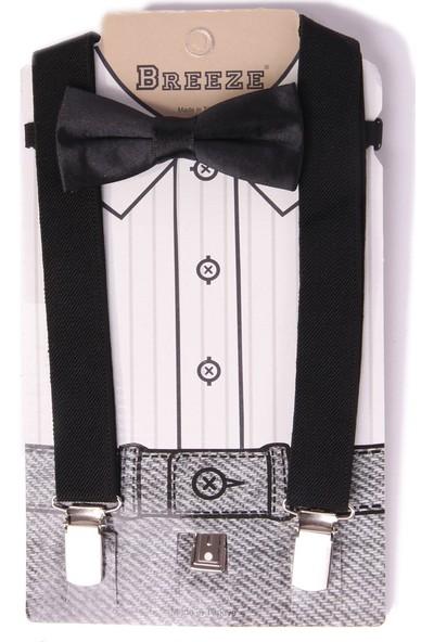 Eh Erkek Çocuk Pantolon Askısı Papyonlu Siyah 1-7 Yaş