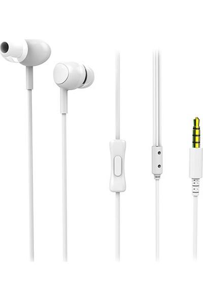 Snopy SN-X05 Corvina Telefon Uyumlu Beyaz Kulak İçi Mikrofonlu Kulaklık