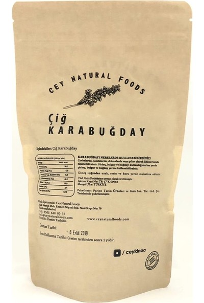 Cey Natural Foods Karabuğday