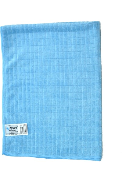 Spark 2313 Mikrofiber Oto Kurulama ve Cam Temizlik Bezi 50 x 70 cm Mavi