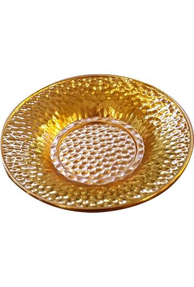 Oyks Dalgıç Metal Çay Tabağı Gümüş Renk 6 Adet