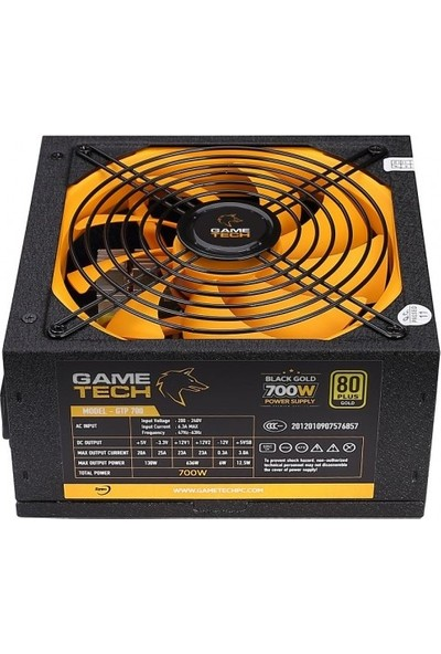 Gametech GTP-700 700W 80 Plus Gold Power Supply PC Güç Kaynağı