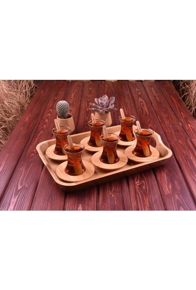 Bambum Ceylon - 12 Parça Çay Seti Gül Kurusu
