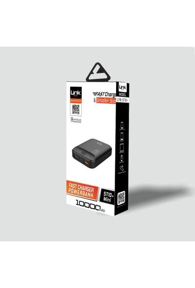 Linktech Mini Plus 10.000 mAh Taşınabilir Şarj Cihazı - Siyah