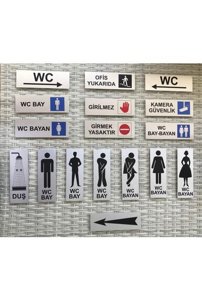 Se -Dizayn Üretim Tabelası Kapı Ve Duvar Yönlendirme Levhası 15 cm X 5 cm