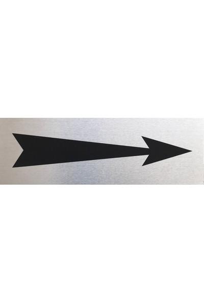 Se -Dizayn Sağ Yönüne Ok İşaret Tabelası Kapı Yönlendirme Levhası 15 X 5cm