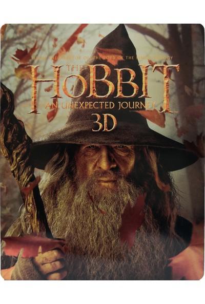 The Hobbit An Unexpected Journey - Hobbit Beklenmedik Yolculuk - 3D + 2D - 4 Disk Bluray Limited Edition Steelbook