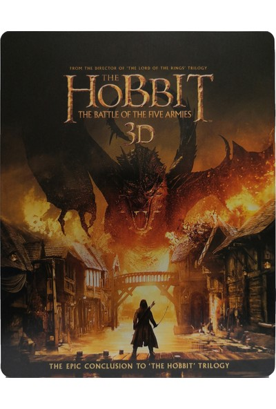 The Hobbit The Battle Of The Five Armies - Hobbit Beş Ordunun Savaşı - 3D + 2D - 4 Disk Bluray Limited Edition Steelbook
