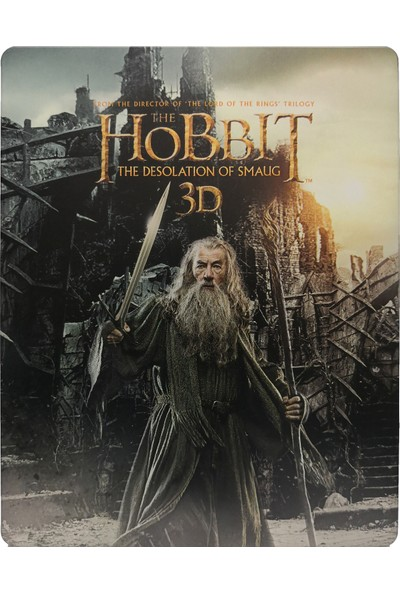 The Hobbit The Desolation Of Smaug - Hobbit Smaug'un Çorak Toprakları - 3D + 2D - 4 Disk Bluray Limited Edition Steelbook