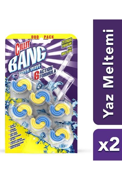 Cillit Bang Tuvalet WC Temizleyici Waves Klozet Blok Yaz Meltemi 2'li