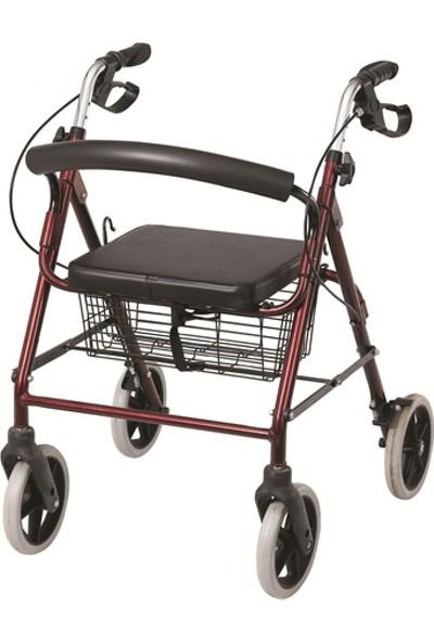 Mor Medikal Ekonomik Tekerlekli Yürüteç - Tekerlekli Walker - Tekerlekli Rollatör