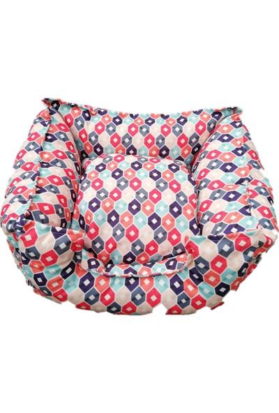 Lider Geometrik Desenli Renkli Kedi Yatağı 50 x 45 cm