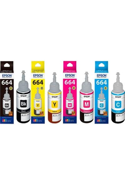Epson L486 Mürekkep Kartuş 4 x 70 ml - 280 ml 4 Renk