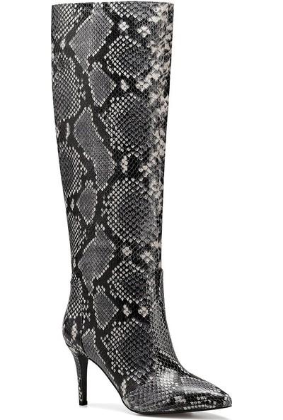 Nine West Terra Gri Kadın Topuklu Çizme