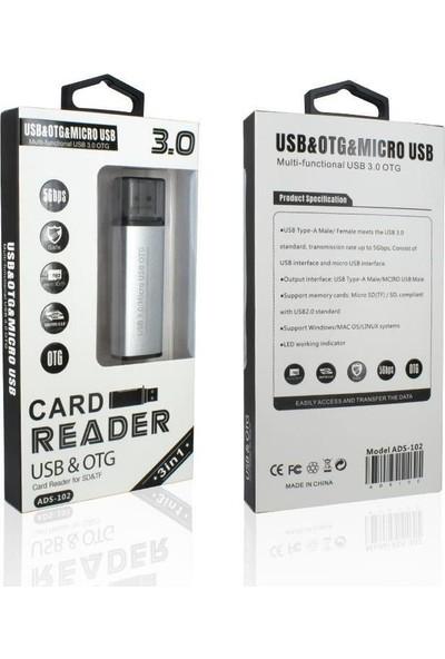 Ads ADS-102 USB 3.0 Otg Micro USB To SD Kart Okuyucu