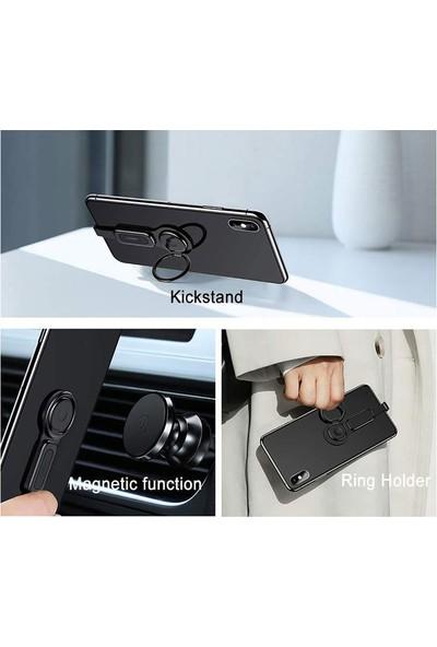 Ads Lightning 3.5mm Aux Kulaklık ve Şarj Çevirici Yüzük Tutuculu Standlı