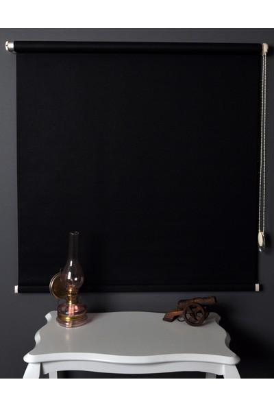 Aniper Siyah Ithal Mat Polyester Stor Perde 100x200 cm