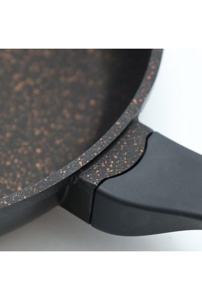 Falez DOA-3014 7 Parça Granit Tencere Seti Siyah Kırmızı
