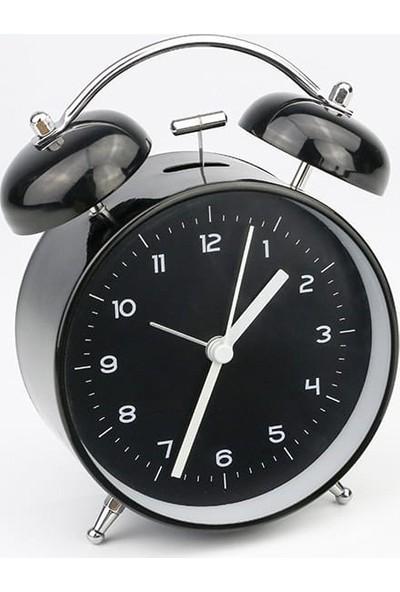 Quartz Alarmlı Masa Saati Siyah