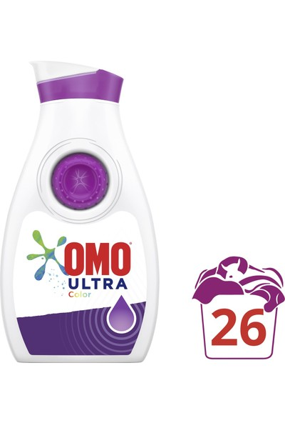 Omo Ultra Konsantre Sıvı Deterjan Color 910 ml