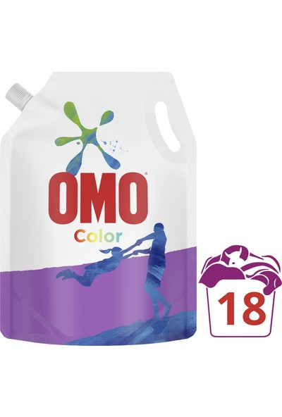 Omo Color Renkliler için Sıvı Deterjan Çevre Dostu Paket 1170 ML