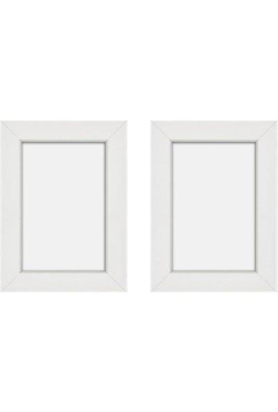 Hepsi Home Fotoğraf Çerçevesi Beyaz 2'li Set 10 x 15 cm