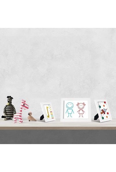 Hepsi Home Fotoğraf Çerçevesi Beyaz 3'lü Set 10 x 15,13 x 18,15 x 21 cm