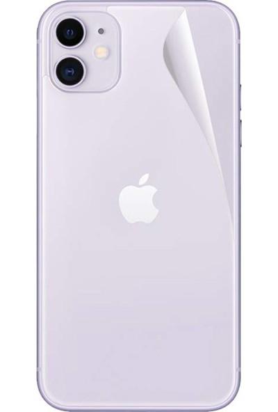 Case 4U Apple iPhone 11 Arka Tam Ekran Kaplayıcı Film Zum Body Şeffaf