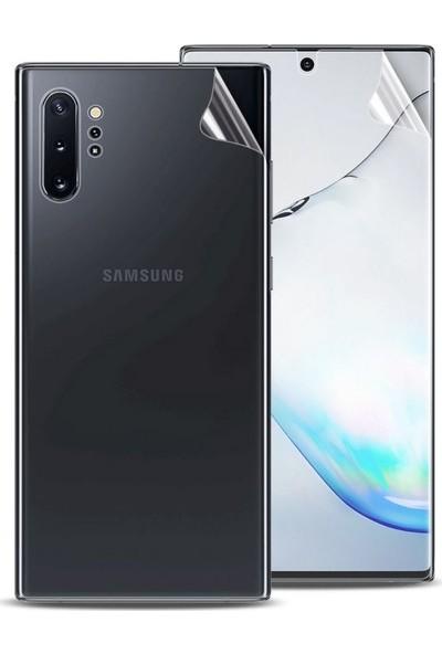 Case 4U Samsung Galaxy Note 10 Plus Ön + Arka Tam Kaplayıcı Film 2in1 Zum Body Şeffaf