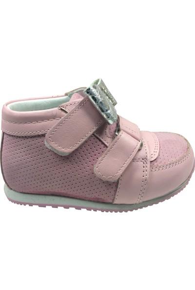 Raduno İlk Adım Kız Çocuk Bot Ayakkabı Gül Kurusu Gümüş Taşlı Fiyonklu